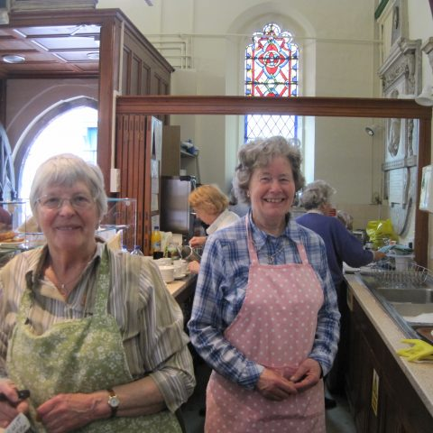 2 volunteers at St Crux
