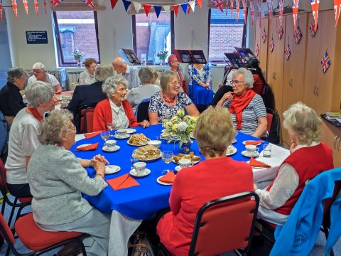 YBPSS members enjoying a tea party
