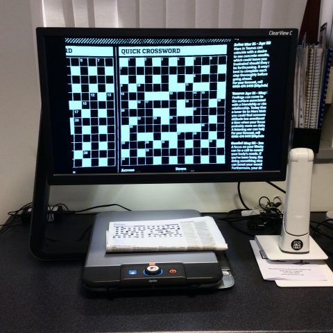 A CCTV video magnifier