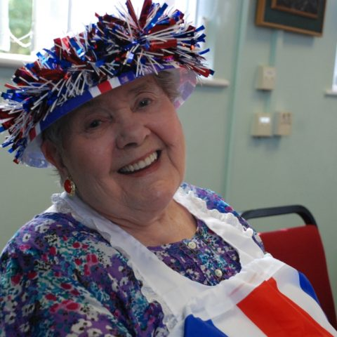 A guest at our Queen's Jubilee party