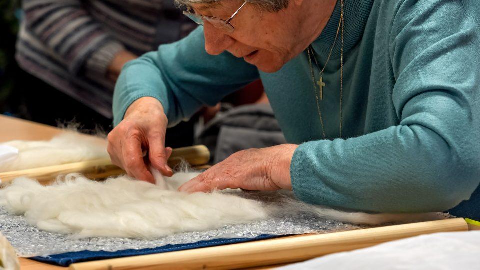 A YBPSS member doing a craft activity